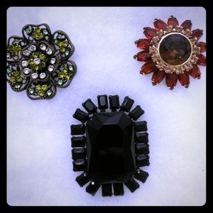 🆕 3 Express Vintage Brooches